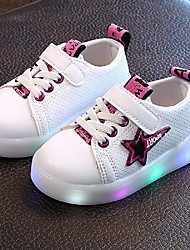 Boys' Sneakers Light Up Shoes Summer Fall TPU Leatherette Casual LED Low Heel Purple Yellow Green Under 1in