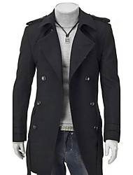 Hot Sale High Quality Men's Casual/Daily Simple Winter CoatSolid Stand Long Sleeve Regular Nylon