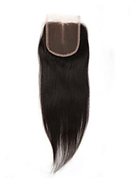 4x4inch Straight Hair  remy human  lace front closure baby hair 8-20inch Middle Part Way