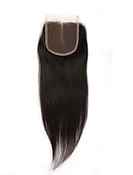 Pelo humano del pelo del pelo del remiendo del cordón humano recto del pelo recto 4x4inch 8-20inch medio manera de parte