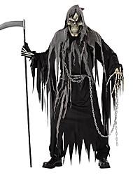 Costumes de Cosplay Pour Halloween Squelette/Crâne Cosplay Faucheuse Fête / Célébration Déguisement d'Halloween Noir Couleur unie Collant
