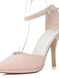 Damen High Heels formale Schuhe Frühling Sommer Kunstleder Kleid Stöckelabsatz Fuchsia Rot Grün Blau Mandelfarben 10 - 12 cm