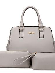 Damen Bag Sets PU Ganzjährig Normal Baguette Bag Reißverschluss Blau Schwarz Grau Fuchsia