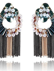 Women's Stud Earrings Tassel Bohemian Handmade Oversized Vintage Crystal Round Jewelry For Other Stage Holiday Going out