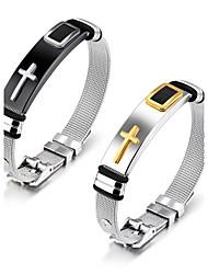 Steel mesh bracelet with bracelet bracelet titanium steel men's bracelet adjustable