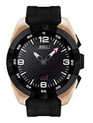 Men's Smart Watch Mechanical manual-winding Rubber Band Black