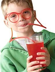 2pcs copos de palha pêlos macios engraçados palha único tubo de beber flexível palha de palha acessório de barra (cor aleatória)