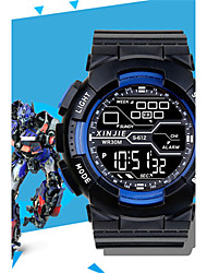 Men's Digital Watch Digital Rubber Band Black