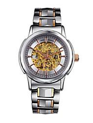 Erkek Kadın's Moda Saat Otomatik kendi hareketli Paslanmaz Çelik Bant Gümüş