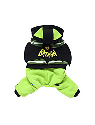 Dog Hoodie Dog Clothes Casual/Daily Cartoon Green Ruby