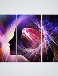 Canvas Print Abstract Girl Picture Printed on Canvas  Ready to Hang 30x60cmx3pcs
