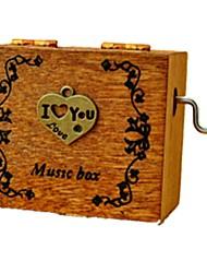 Caja de música 4.5cm Corazón Plásticos Madera