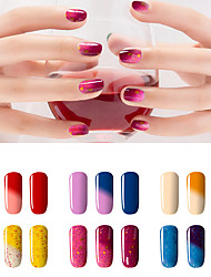 New Colorful Chameleon Temperature UV Gel Polish Nail Lacquer 7ml 24 Colors