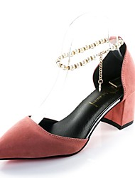 Women's Sandals Comfort Summer PU Walking Shoes Casual Pearl Low Heel Black Gray Yellow Blushing Pink 2in-2 3/4in
