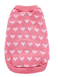 Chien Manteaux Pull Vêtements pour Chien Soirée Cosplay Anniversaire Décontracté / Quotidien Mode Mariage Noël Nouvel An Cœur Rose