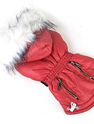 Собака Плащи Одежда для собак На каждый день Новый год Сплошной цвет Лиловый Розовый Красный Зеленый Синий