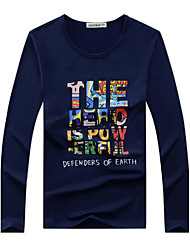 You're Worth It M-6XL Men's Sports Plus Size Casual Simple Sport T-shirt Round Neck Long Sleeves T-shirt With Letter Print Tops