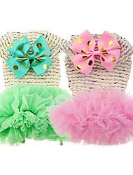 Chien Robe Vêtements pour Chien Décontracté / Quotidien Princesse Vert Rose