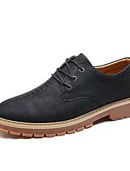 Для мужчин Туфли на шнуровке Удобная обувь Светодиодные подошвы Осень Зима Материал на заказ клиента Дерматин КожаСвадьба Повседневные