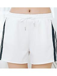 Femme Street Chic Taille Normale non élastique Short Pantalon,Ample Couleur Pleine