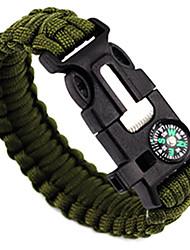 Bracelet de survie Réchaud randonnée Pierre a feu Compas/boussole Paracorde Sifflement Randonnée Camping Voyage ExtérieurMulti Fonction 5