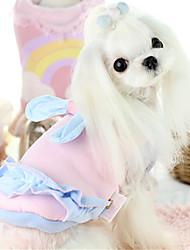 Собака Жилет Одежда для собак На каждый день Бант Синий Розовый