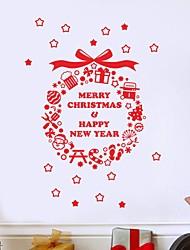 Natal Romance Feriado Adesivos de Parede Autocolantes de Aviões para Parede Autocolantes de Parede Decorativos Material Decoração para