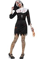 Une Pièce/Robes Costumes de Cosplay Zombie Cosplay Fête / Célébration Déguisement d'Halloween Rétro Robes Chapeau Halloween Carnaval