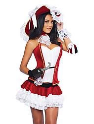Costumes de Cosplay Bal Masqué Conte de Fée Cosplay Fête / Célébration Déguisement d'Halloween Rouge Autres Rétro Robes Chapeau Tour de