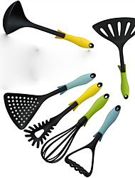 Brand New Creative 6 Piece Black Nylon Kitchen Tool Set Cooking Tools Spoon Utensils High Quality Hot Selling