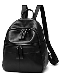 Women Bags Spring All Seasons PU Backpack with Ruffles for Event/Party Casual Formal Outdoor Office & Career Black