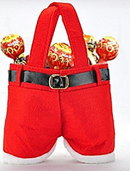 1Pcs Christmas Candy Bag Red Santa Claus Pants Christmas Tree Decorations Jewelry Gift Bag