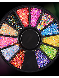 1PC Circular Sequins Colorful Iaser Sequins 12 Case Pack Disc Ornament