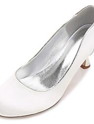 Women's Wedding Shoes Comfort Satin Spring Summer Wedding Party & Evening Dress Rhinestone Bowknot Flat HeelIvory Champagne Blue Ruby