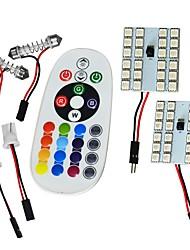 Jiawen t10 5050smd rgb led panel 24led автомобиль авто внутренняя лампа свет фастона пульт дистанционного управления вспышка строб dc 12v