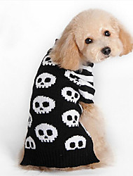 Cane Maglioni Abbigliamento per cani Casual Teschi