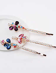South Korea Hairpin Crystal Diamond Butterfly Word Clip Clip Clip Clip Long Diamond Liuhai Hairpin Hairpin Mixed Hair 5PCS