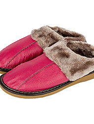 Womens Bedroom Slippers Slip-On Skidproof Cotton-Padded Indoor Shoes