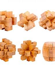 Traditional Wooden Hole Lock Gossip Tenon Structure Luban Unlock Children's Toys JJ7701-0513