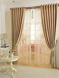 роскошные занавески из твёрдых фланелевых штор, готовые с косами, разноцветные бежевые / коричневые / золотые / фиолетовые бисер