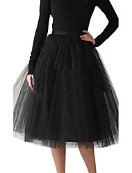Women's Wedding / Party Underskirt Slips A-Line Slip / Ball Gown Slip Knee-Length Polyester / Tulle Petticoats Tutu