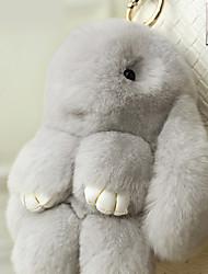 Saco / telefone / chaveiro charme coelho cartoon brinquedo faux peles