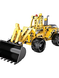 Kit Faça Você Mesmo Blocos de Construir Brinquedo Educativo Carrinho de Fricção para presente Blocos de Construir Maquina de Escavar