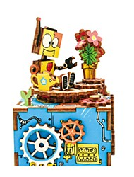 Boîte à musique Robot Plastique Bois