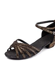 Niños Zapatos de danza (niños) Brillantina Cuero Nobuck Cuero Patentado Sandalias Tacones Altos Entrenamiento Hebilla BrillantinaTacón