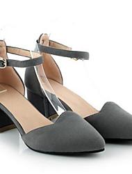 Damen Schuhe PU Frühling Sommer formale Schuhe High Heels Blockabsatz Für Normal Weiß Schwarz Grau