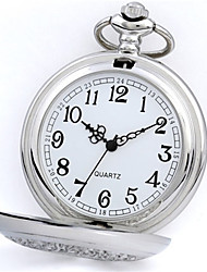 Women's Pocket Watch Quartz Alloy Band Silver