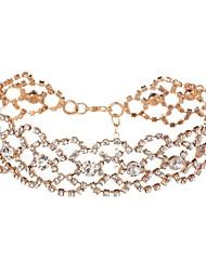 L.WEST Women's Luxury Imitation Diamond Choker Necklaces