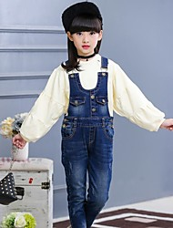 Girls' Print Overall & Jumpsuit-Cotton Spring Fall