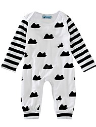 Baby Print One-Pieces Cotton Spring/Fall Winter Long Sleeve Clouds Striped Newborn Boys Clothes for Infant Kids Bodysuits Jumpsuits